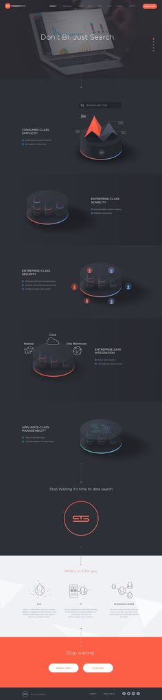 ThoughtSpot - Product page by Jonathan Moreira  #infographics