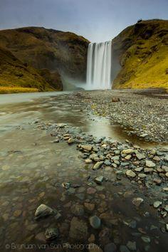 Skogafoss long exposure photo