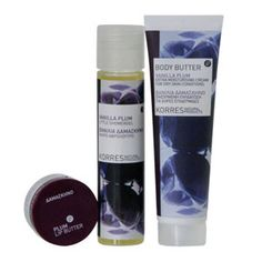Korres Vanilla Plum Gift Set Korres Vanilla Plum Gift Set The Korres Vanilla Plum Collection Set is a limited-edition bath and body set infused with indulgent winter scents. These delicious festive trio includes a Vanilla Plum B http://www.comparestoreprices.co.uk/gift-ideas/korres-vanilla-plum-gift-set.asp