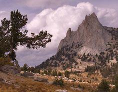 Cathedral Peak Yosemite | CathedralPeak20041009: Cathedral Peak with approaching storm. Yosemite ...