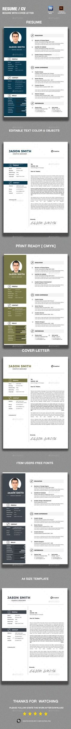 Word Resume Template - Resume Template for Word + Cover Letter - microsoft template for resume