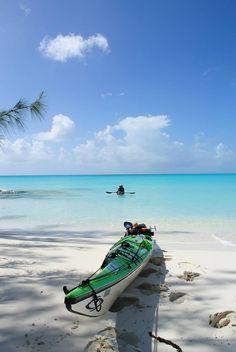 Kayak on a Bahamas beach #kayak #kayaker #kayaking