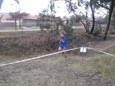 National Cross Country at Ermelo, running against a freezing wind!