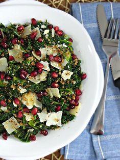Parmigiano & Pomegranate Kale Salad