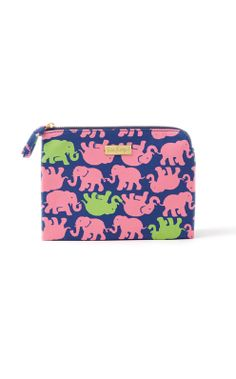 """JUST ARRIVED! Pick Me Up Pouch from Lilly Pulitzer in Multi Tusk In Sun! Printed Canvas Zippered Pouch. So many uses! 73/4"""" x 4."""