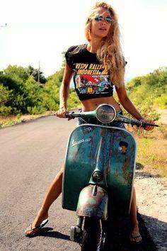 Nice Vespa Girl!!!