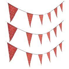 Red Bandana Print Pennant Banner - OrientalTrading.com