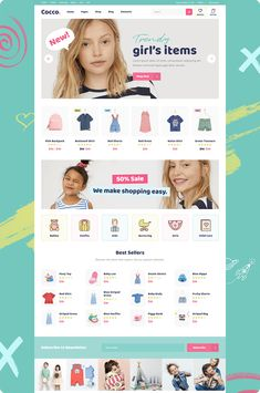 Buy Cocco - Kids Store and Baby Shop Theme by Mikado-Themes on ThemeForest. Make a powerful eCommerce website with Cocco! This theme enables you to build a charming website for your kids store. Short Shirt Dress, Kids Web, Flamingo Dress, Web Design, Ecommerce Shop, Striped Bags, Girls World, Kids Store, Kids Online