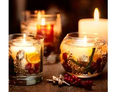 Winter Spice Fish Bowl Candle