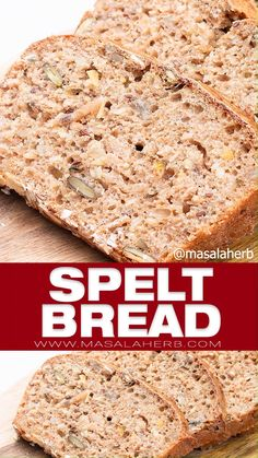 Quick and easy Spelt Bread with seeds recipe. Healthy rich in fibers and tasty, this bread recipe is a keeper! Spelt Recipes, Healthy Bread Recipes, Apple Dessert Recipes, Healthy Baking, Baking Recipes, Whole Food Recipes, Bread Machine Recipes, Spelt Flour Bread Machine Recipe, Cracker Bread Recipe