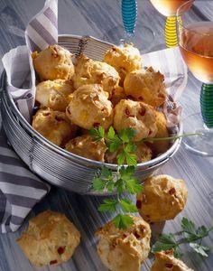 Salami-Käse-Krapfen #hochland #käse #rezept #recipe #cheese #salami