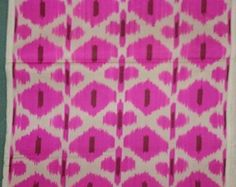 silk ikat fabric,handmade fabric,3 yards, Pink Ikat Fabric, Decorative and Modern Fabric for pillow  Shipping with Fedex, Delivered 2-5 days