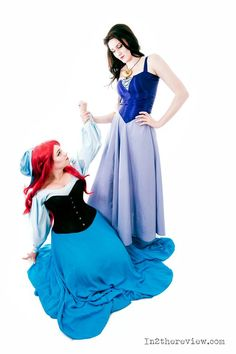 Vanessa and Ariel the little mermaid cosplay. Disney. Vanessa - Kyokyo cosplays Ariel - Dewnor Cosplay