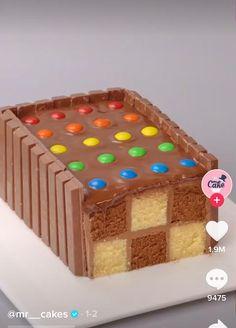 Buttercream Cake Decorating, Cake Decorating Designs, Cake Decorating Videos, Cake Decorating Techniques, Fun Baking Recipes, Cake Recipes, Dessert Recipes, Checkered Cake, Bolo Original