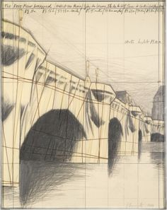 Christo - The Pont Neuf Wrapped, Paris, 1984 Fabric, twine, pencil, charcoal, pastel and crayon on card (71 x 56cm)