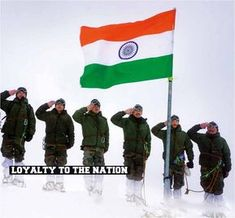 """""""As land component of the Indian Armed Forces, upholds the ideals of the Constitution of India, thwart proxy wars and internal threats, assist our Government and the people of India. Indian Flag Pic, Indian Flag Images, Indian Navy, Indian Flag Wallpaper, Indian Army Wallpapers, Military Love, Army Love, Real Life Heros, Indian Police Service"""