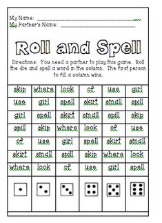 The Very Busy Classroom: Ideas for Spelling Activities
