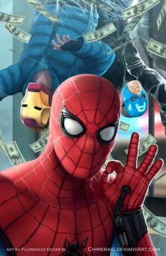 Spider man vs avenger thivies