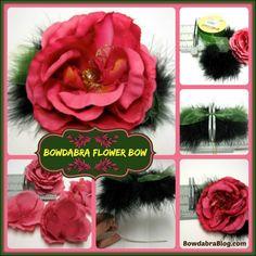 Flower Bow diy tutorial using Bowdabra bow maker
