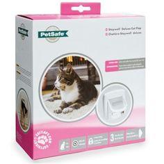 PetSafe Staywell Infra Red 4 Way Locking Deluxe Cat Flap - White Pet Door Cat Flea Collar, Cat Collars, Dog Door Flaps, Pet Door, Dog Safety, Red Cat, Cat Supplies, Large Dogs, Your Pet