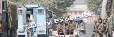 Security forces rush to JKEDI complex in Pampore where gunbattle in on with militants : Excelsior Photo
