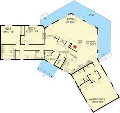 C-Shaped Floor Plan - 77135LD | 1st Floor Master Suite, Butler Walk-in Pantry, CAD Available, Northwest, PDF, Split Bedrooms | Architectural Designs