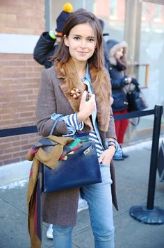 Miroslava Duma @ La Fashion Week automne-hiver 2014-2015 de New York