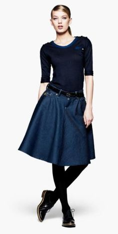 love demin with black...cute for fall
