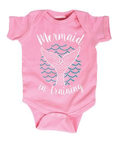 This Light Pink 'Mermaid in Training' Bodysuit - Infant is perfect! #zulilyfinds