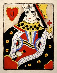 Queen Of Hearts Gothic Art Print .. again..if you have never shopped Etsy art prints.. here is tigerhouseart many others to choose from ... I love em