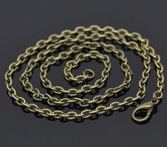 60pcs 07mm thick 18 Bronze Tone Textured Chain by aliyafang, $26.60