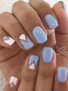 Best Spring Nails 24 Best Spring Nails for 2018 Hashtag Nail Art - cute nails ideas - Nail Designs Spring, Acrylic Nail Designs, Nail Art Designs, Light Blue Nail Designs, Acrylic Nails, Nails Design, Acrylic Spring Nails, Cute Summer Nail Designs, Diy Nails