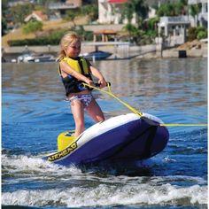 Buy Inflatable Tube Single Rider Towable Water Ski Hybrid Airhead EZ Ski Float Boat at online store Ski Bindings, Standup Paddle Board, Sup Surf, Windsurfing, Boat Plans, Kayak Fishing, Water Sports, Skiing, Water Ski