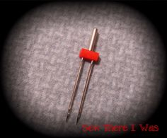 How to use a twin needle.