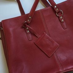 """Laptop bag Large 16x12x4 will fit 15"""" laptop. Dark red color. Good Pre used condition. Lots of interior separate spaces. Extendable zipper depth. Buxton Bags Laptop Bags"""
