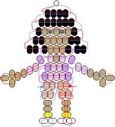 PEARLS - BEADS / PERLES / PARELS - Dora beadie pattern