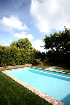 Pool with Used Brick Coping