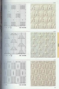 """The album """"Patterns spoke of Japan."""" Discussion on LiveInternet - Russian Service Online Diaries Lace Knitting Stitches, Cable Knitting, Knitting Charts, Knitting Designs, Knitting Needles, Knitting Projects, Knitting Patterns, Crochet Patterns, Lace Patterns"""