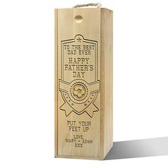 Personalised To T...  http://twisted-envy-apparel.myshopify.com/products/personalised-to-the-best-dad-ever-wooden-wine-box?utm_campaign=social_autopilot&utm_source=pin&utm_medium=pin   Twisted Envy unique gift ideas and personalised gifts, as well as inspirational art    #Twistedenvy