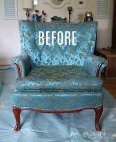 Chair Makeover with Chalk Paint BEFORE artsychicksrule.com