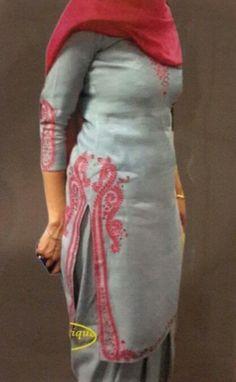 Grey salwaar suit. Wtsapp 00919815753325 to order