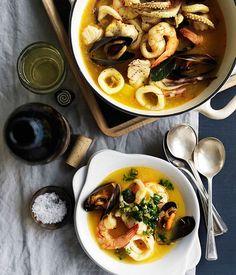 Catalan seafood stew (Suquet de pescados) - Gourmet Traveller