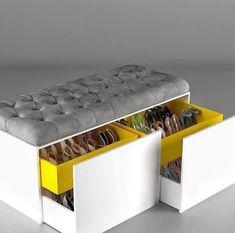 Wardrobe Design Bedroom, Bedroom Furniture Design, Home Decor Furniture, Furniture Storage, Bedroom Storage, Furniture Projects, Furniture Makeover, Home Room Design, Home Interior Design
