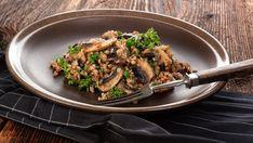 Pohánkové rizoto so šampiňónmi Snacks Für Party, Cooking Recipes, Beef, Vegan, Ethnic Recipes, Fish Fry, Cooking Rice, Vegetarian Recipes, Buckwheat