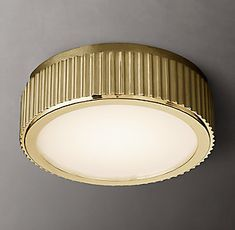 RH's Davenport Flushmount:Distinguished by an elegant fluted rim, our collection reflects an architectural aesthetic. Striking yet simple, its vertical channels lend a subtle visual rhythm to the linear geometry. Entryway Lighting, Coastal Lighting, Traditional Wall Sconces, Linear Lighting, Home Decor Lights, Storage Mirror, Furniture Vanity, Modern Shop, Bath Light