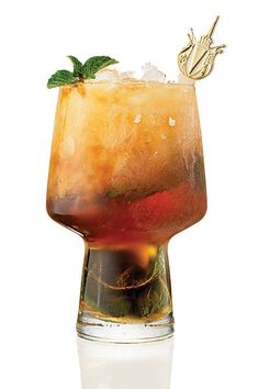 Antebellum Mint Julep - Before the Civil War made foreign products hard to come by in the South, French cognac was the preferred liquor in a mint julep.