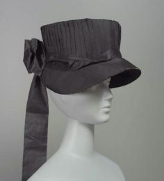 Woman's hat. American, late 18th to early 19th century. In the Museum of Fine Arts Boston.
