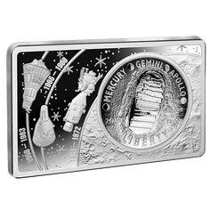 2019 United States Moon Landing Fine Silver Coin and Bar Set Silver Coins For Sale, Silver Dollar Coin, Coin Design, Apollo 11, Commemorative Coins, Moon Landing, Bar Set, Coin Collecting, 50th Anniversary