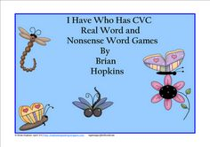 CVC Real and Nonsense Word Games - Pack of 5!  Best seller!