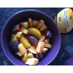 """#lunch #sliced #braeburnapple #papaya #yellowplums #blackbursafigs and #driedapricots I #drizzled #freshlime and #organichoney over it. Tasted oh so good!!! #foodie #foodgasm #foodstagram #foodforthesoul #foodporn #foodlover #healthyeating #healthyliving #healthychoices #madebyme #morgansnature #70dayfitnesschallenge #day21 of 70, #day11 of #fit1 #fitfood #freshfoods #homemade"" Photo taken by @natashajmorgan on Instagram, pinned via the InstaPin iOS App! http://www.instapinapp.com (09"